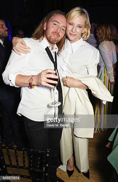 Tim Minchin and Cate Blanchett attend the Summer Gala for The Old Vic at The Brewery on June 27, 2016 in London, England.