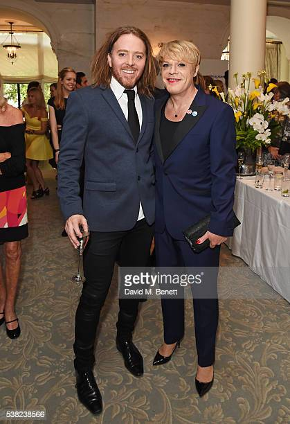 Tim Minchin and Eddie Izzard attend the The South Bank Sky Arts Awards, airing on Wednesday 8th June on Sky Arts, at The Savoy Hotel on June 5, 2016...
