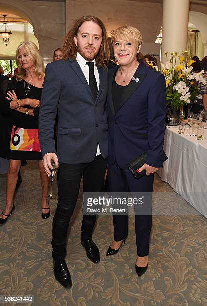 Tim Minchin and Eddie Izzard attend the The South Bank Sky Arts Awards airing on Wednesday 8th June on Sky Arts at The Savoy Hotel on June 5 2016 in...