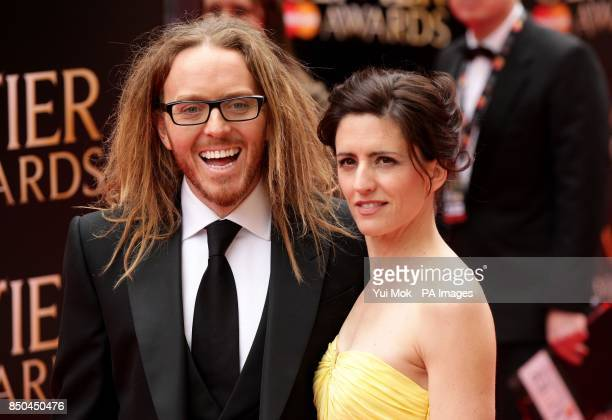 Tim Minchin and his wife Sarah arrive at the Olivier Awards 2013 at the Royal Opera House in Covent Garden central London