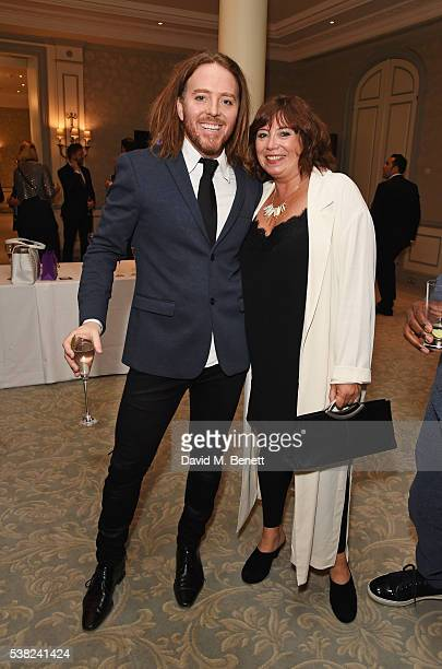 Tim Minchin and Lisa Makin attend the The South Bank Sky Arts Awards, airing on Wednesday 8th June on Sky Arts, at The Savoy Hotel on June 5, 2016 in...