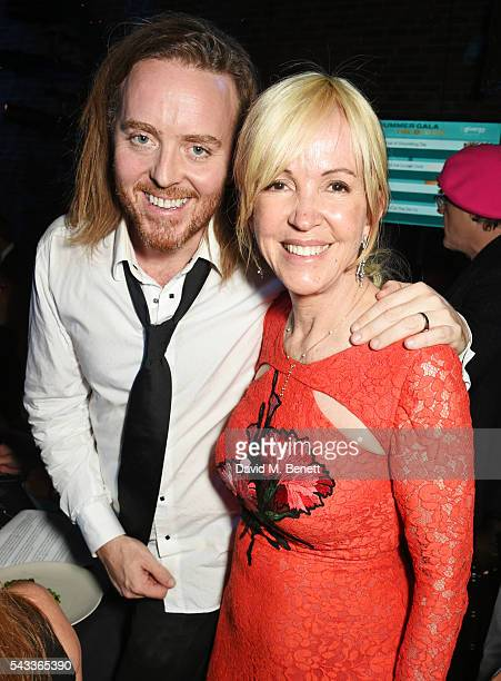 Tim Minchin and Old Vic CEO Sally Greene attend the Summer Gala for The Old Vic at The Brewery on June 27 2016 in London England