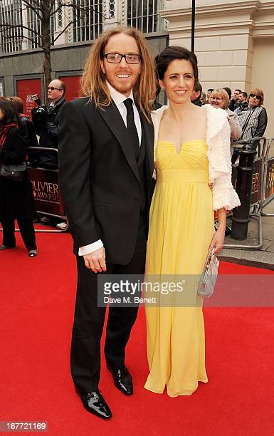 Tim Minchin and Sarah Minchin arrive at The Laurence Olivier Awards 2013 at The Royal Opera House on April 28 2013 in London England