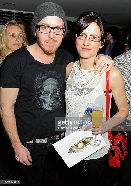 Tim Minchin and Sarah Minchin attend a gala performance of 'The Book Of Mormon' in aid of Red Nose Day at the Prince Of Wales Theatre on March 13...