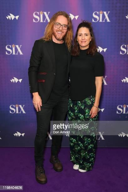 Tim Minchin and Sarah Minchin attend opening night of SIX the Musical at Sydney Opera House on January 09 2020 in Sydney Australia