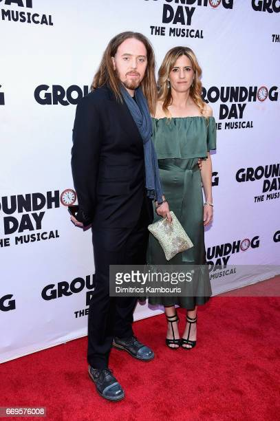 Tim Minchin and Sarah Minchin attend the Groundhog Day Broadway Opening Night at August Wilson Theatre on April 17 2017 in New York City
