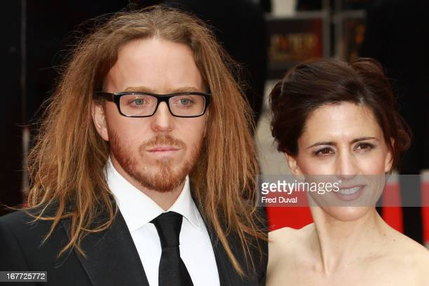 Tim Minchin and Sarah Minchin attend The Laurence Olivier Awards at The Royal Opera House on April 28 2013 in London England