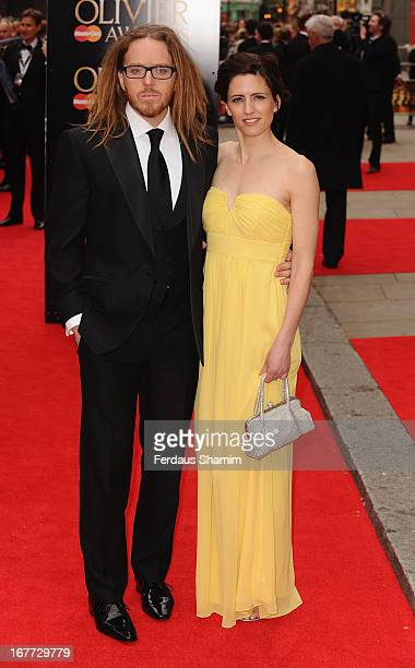 Tim Minchin and sarah Minchin attend The Laurence Olivier Awards at The Royal Opera House on April 28 2013 sLondon England