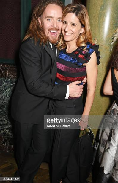 Tim Minchin and Sarah Minchin attend The Olivier Awards 2017 after party at Rosewood London on April 9, 2017 in London, England.