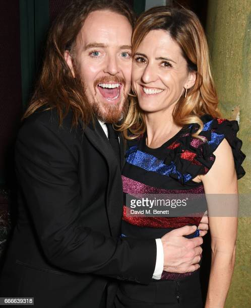 Tim Minchin and Sarah Minchin attend The Olivier Awards 2017 after party at Rosewood London on April 9 2017 in London England