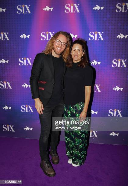 Tim Minchin and Sarah Minchin attends opening night of SIX the Musical at Sydney Opera House on January 09 2020 in Sydney Australia
