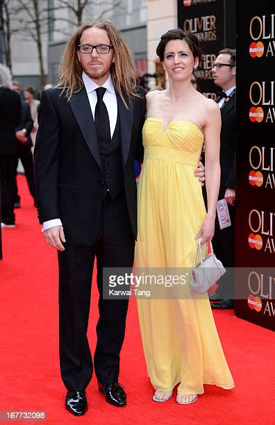 Tim Minchin and Sarah Minchin attends The Laurence Olivier Awards at The Royal Opera House on April 28 2013 in London England