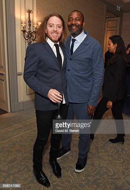 Tim Minchin and Sir Lenny Henry attend the The South Bank Sky Arts Awards, airing on Wednesday 8th June on Sky Arts, at The Savoy Hotel on June 5,...