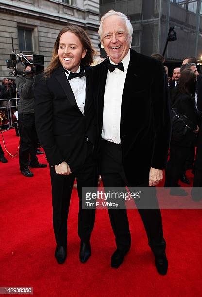 Tim Minchin and Tim Rice attends the 2012 Olivier Awards at The Royal Opera House on April 15 2012 in London England