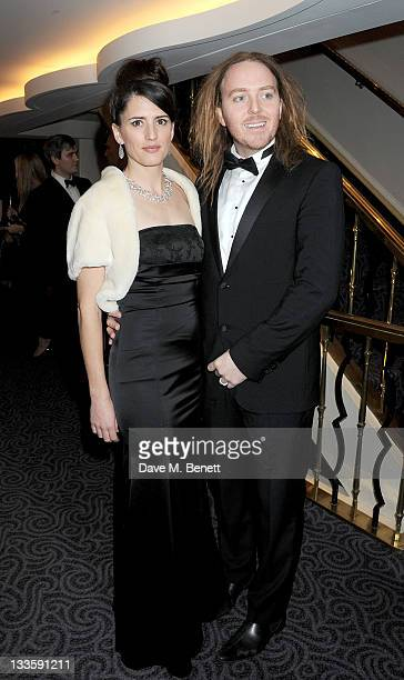 Tim Minchin and wife Sarah attends a drinks reception during the 57th Evening Standard Theatre Awards at The Savoy Hotel on November 20 2011 in...