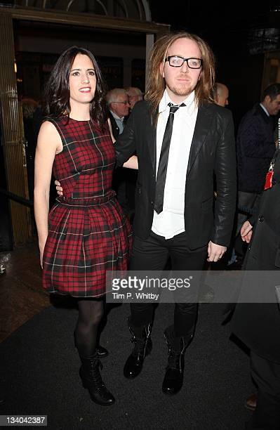 Tim Minchin and wife Sarah Minchin attend the press night of Matilda The Musical at Cambridge Theatre on November 24 2011 in London England