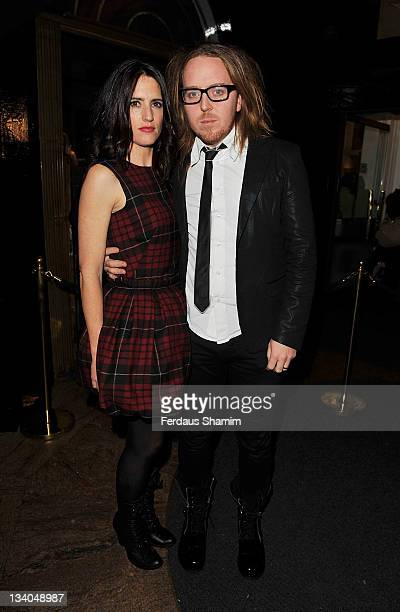 Tim Minchin and wife Sarah Minchin attend the press night of 'Matilda The Musical' at Theatre Royal with his wife Sarah Minchin November 24 2011 in...