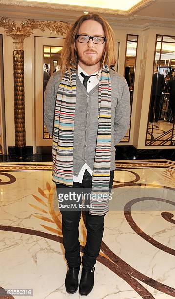 Tim Minchin arrives at the 2013 South Bank Sky Arts Awards at The Dorchester on March 12 2013 in London England