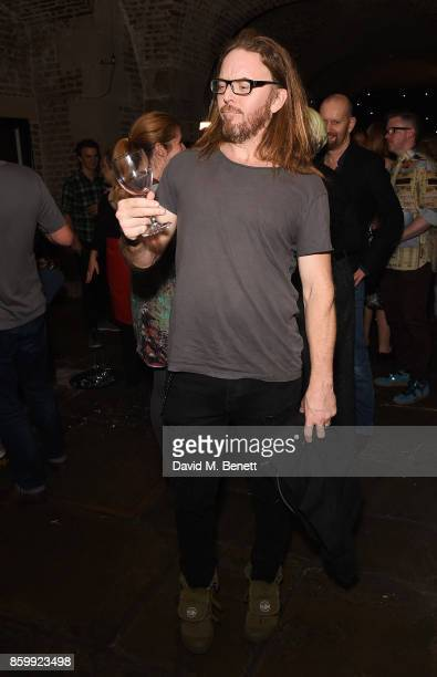"""Tim Minchin attends the press night performance of """"Mel Brooks' Young Frankenstein"""" at The Garrick Theatre on October 10, 2017 in London, England."""
