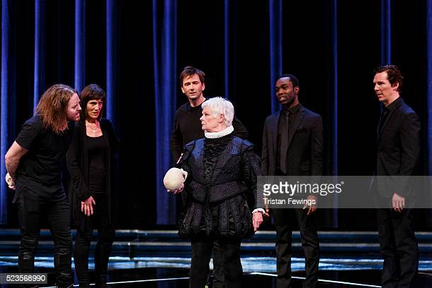 Tim Minchin Harriet Walter David Tennant Dame Judi Dench Paapa Essiedu and Benedict Cumberbatch perform on stage as part of a special production of...