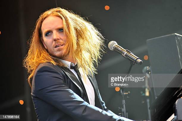 Tim Minchin performs on stage for Kew The Music at Kew Gardens on July 5 2012 in London United Kingdom