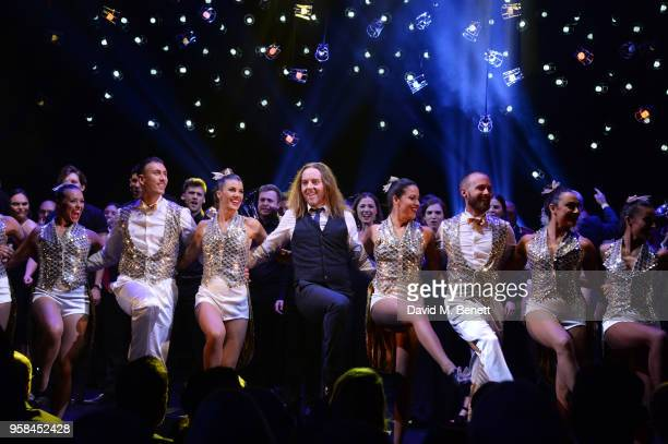 Tim Minchin performs with cast at The Old Vic Bicentenary Ball to celebrate the theatre's 200th birthday at The Old Vic Theatre on May 13, 2018 in...