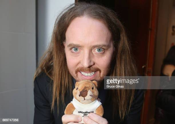 Tim Minchin poses at the opening night of the new musical based on the film 'Groundhog Day' on Broadway at The August Wilson Theatre on April 17 2017...