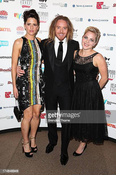 Tim Minchin Sarah Minchin and Nel minchin arrives at the 2013 Helpmann Awards at the Sydney Opera House on July 29 2013 in Sydney Australia