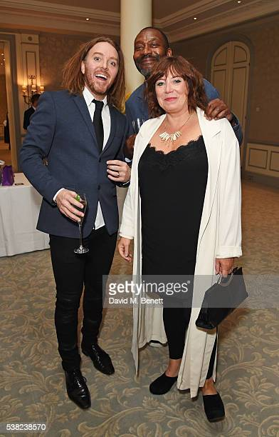 Tim Minchin, Sir Lenny Henry and Lisa Makin attend the The South Bank Sky Arts Awards, airing on Wednesday 8th June on Sky Arts, at The Savoy Hotel...