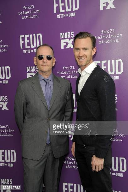 Tim Minear and John Gray attend 'Feud' Tastemaker lunch at The Rainbow Room on February 14 2017 in New York City