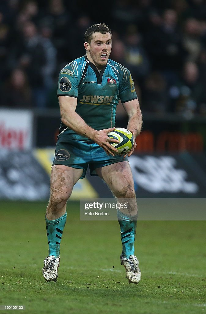 Tim Molenaar of Gloucester in action during the LV=Cup match between Northampton Saints and Gloucester at Franklin's Gardens on January 26, 2013 in Northampton, England.