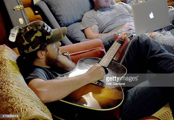 Tim Montana attends Country Rock Group Love And Theft Cabin Fever Writing Sessions on April 21 2015 in Dover Tennessee