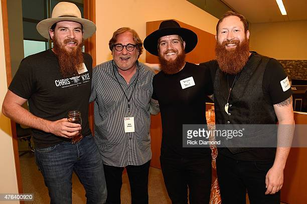 Tim Montana Rod Essig Bryce Paul and Brian Wolff attend the 23rd Annual CAA BBQ at Creative Artists Agency's Nashville office on June 8 2015 in...