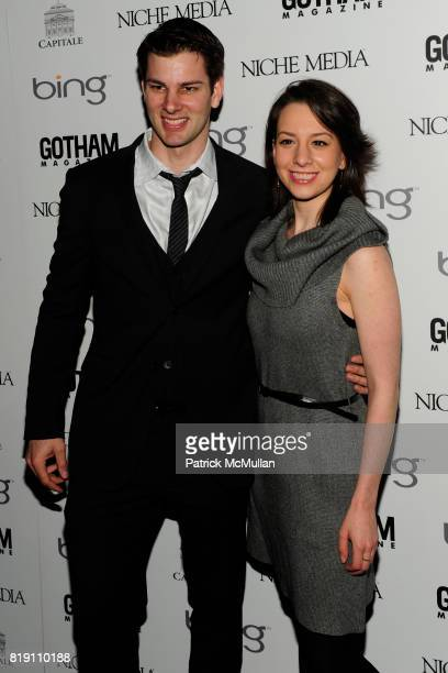 Tim Morehouse and Sarah Hughes attend ALICIA KEYS Hosts GOTHAM MAGAZINES Annual Gala Presented by BING at Capitale on March 15 2010 in New York City