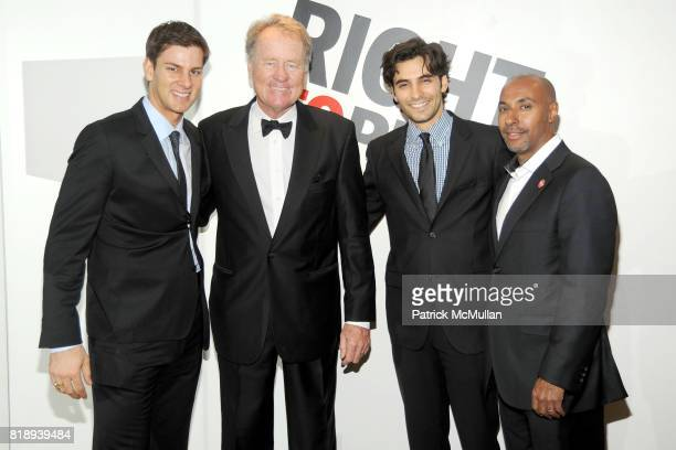 Tim Morehouse Jack Pittard Jason Rogers and Jeffrey Orridge attend RIGHT TO PLAY 'En Garde' Charity Cocktail Party at Barneys New York on May 13 2010...