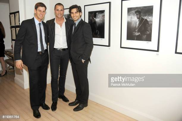 Tim Morehouse Nigel Barker and Jason Rogers attend RIGHT TO PLAY 'En Garde' Charity Cocktail Party at Barneys New York on May 13 2010 in New York City