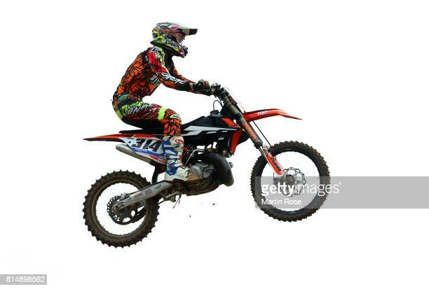 Tim Muenchhofen of Germany in action during the International German Motocross Championships on July 15 2017 in Tensfeld Germany