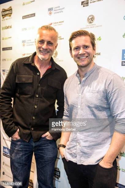 Tim Murphy and Allen Leech celebrate IrelandWeek In Hollywood at Barnsdall Gallery Theatre on November 05 2019 in Los Angeles California