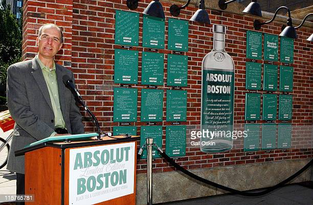 Tim Murphy attends the unveiling for the ABSOLUT Boston Flavor at Boylston Plaza Prudential Center on August 26 2009 in Boston Massachusetts