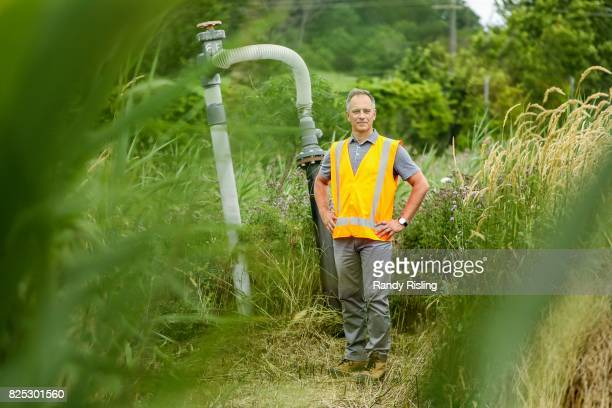 Tim Murphy Vice President Environmental Performance at Walker Industries stands beside a gas wellhead at their South Landfill site This area of the...