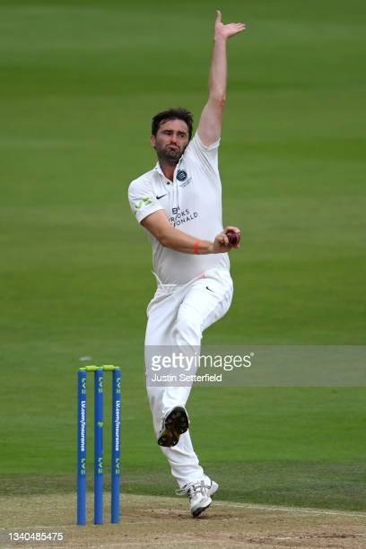 Tim Murtagh of Middlesex bowls during the LV= Insurance County Championship match between Middlesex and Worcestershire at Lord's Cricket Ground on...
