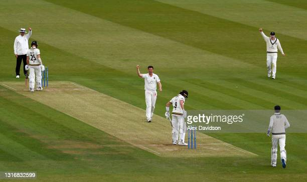 Tim Murtagh of Middlesex celebrates taking the wicket of Tom Lace of Gloucestershire during Day Two of the LV= Insurance County Championship match...