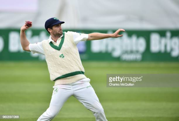 Tim Murtaugh of Ireland during the fifth day of the international test cricket match between Ireland and Pakistan on May 15 2018 in Malahide Ireland