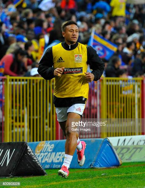 Tim NanaiWilliams of the Chiefs warming up during the Super Rugby Quarter final between DHL Stormers and Chiefs at DHL Newlands on July 22 2017 in...