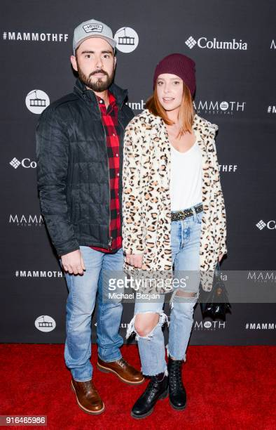 Tim Newfang and Courtney Davies arrive at Unsolved The Murders Of Tupac and The Notorious BIG at Inaugural Mammoth Film Festival Day 2 on February 9...