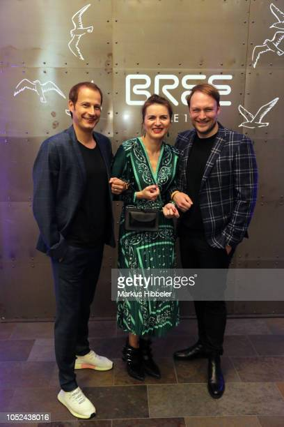 Tim Niedernolte Justina Rokita and Martin Stange attend the BREE Grand Opening Of New Haedquarters In Hamburg on October 17 2018 in Hamburg Germany