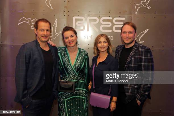 Tim Niedernolte Justina Rokita Tina Ruland and Martin Stange attend the BREE Grand Opening Of New Haedquarters In Hamburg on October 17 2018 in...