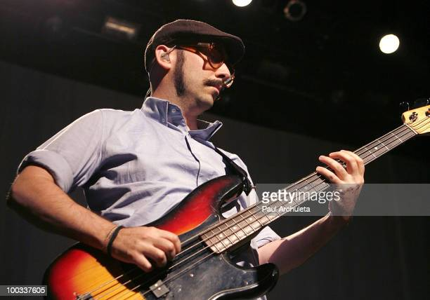 Tim Nordwind of OK Go performs a sound check for the LA Recording Academy and GRAMMY Foundation at The Music Box at the Fonda Hollywood on May 21...