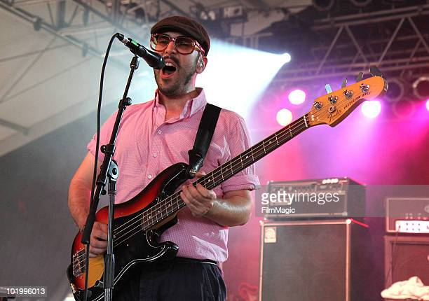 Tim Nordwind of OK Go performs onstage during Bonnaroo 2010 at The Other Tent on June 11 2010 in Manchester Tennessee