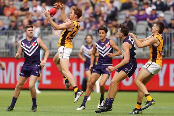AUS: AFL Rd 4 - Fremantle v Hawthorn